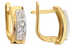 Dámske náušnice žlté a biele zlato Kasandra JM154