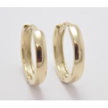 Dámske náušnice žlté zlato Kruhy - 14 mm