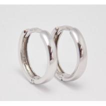 Dámske náušnice biele zlato Kruhy - 14 mm