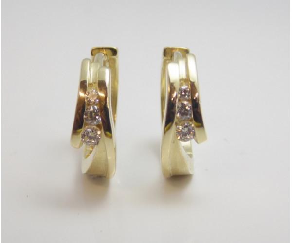 Dámske náušnice žlté zlato Bianca DF1794