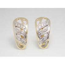 Dámske náušnice žlté zlato Ebony JM162