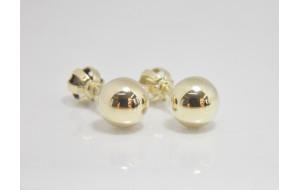 Dámske náušnice žlté zlato Ball - 4 mm