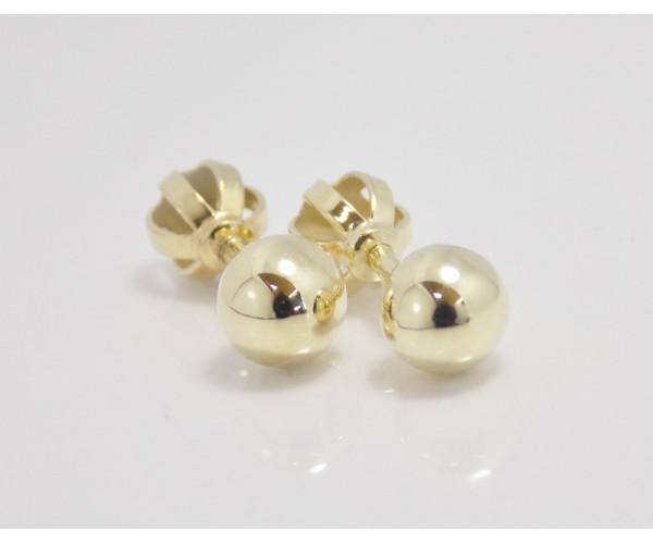 Dámske náušnice žlté zlato Ball - 5 mm.
