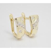 Dámske náušnice žlté zlato Ambra JM106