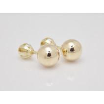 Dámske náušnice tmavožlté zlato Ball - 7 mm
