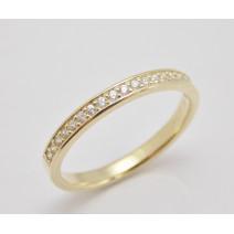 Dámsky prsteň žlté zlato  Shine
