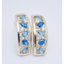 Dámske náušnice žlté zlato Ideal JM349-blue