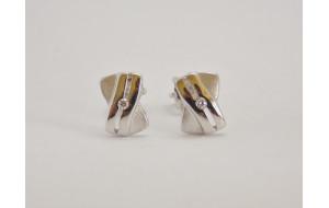 Dámske náušnice biele zlato Ema DF1628