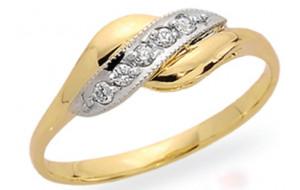 Dámsky prsteň žlté a biele zlato Edita JM11