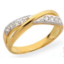 Dámsky prsteň žlté zlato Pamela JM207