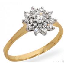 Dámsky prsteň žlté zlato Dona JM83