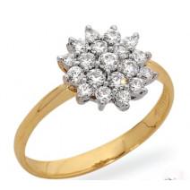 Dámsky prsteň žlté zlato Deana JM85