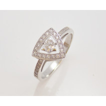 Dámsky prsteň biele zlato  Calla DF1970