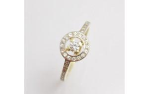 Dámsky prsteň žlté zlato Nela DF1990
