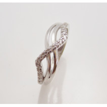 Dámsky prsteň biele zlato Camelia DF2082