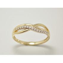 Dámsky prsteň žlté zlato Benita JM382