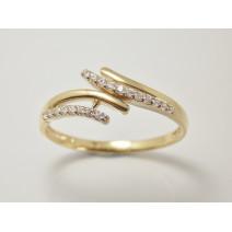 Dámsky prsteň žlté zlato Mandy JM379