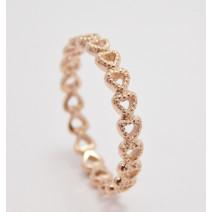 Dámsky prsteň ružové zlato Million Hearts