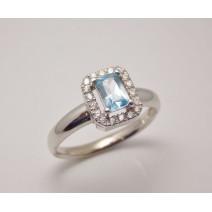 Dámsky prsteň biele zlato Atena