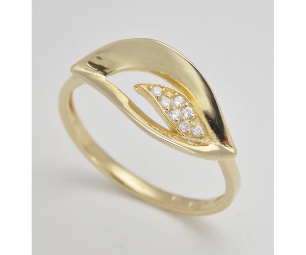 Dámsky prsteň žlté zlato Neva JM1801