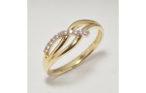 Dámsky prsteň žlté zlato Tatum JM381