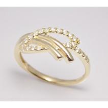 Dámsky prsteň žlté zlato Gloria JM1731