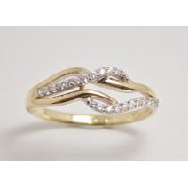Dámsky prsteň žlté zlato Sally JM385
