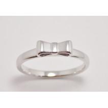 Dámsky prsteň biele zlato Arco