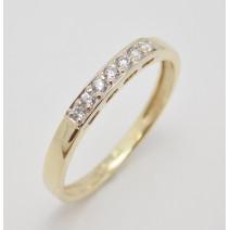 Dámsky prsteň žlté zlato Seven Stones