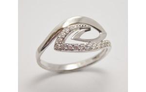 Dámsky prsteň biele zlato Twist JM1800
