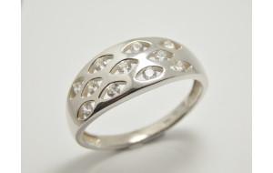 Dámsky prsteň biele zlato Cloud JM364