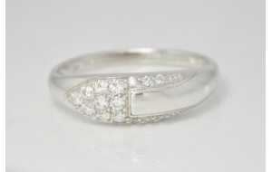 Dámsky prsteň biele zlato Kora JM299