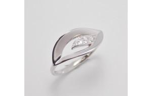 Dámsky prsteň biele zlato Neva JM1801