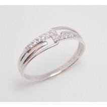 Dámsky prsteň biele zlato Cannes JM281