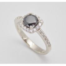 Dámsky prsteň biele zlato Markíza