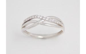 Dámsky prsteň biele zlato Benita JM382