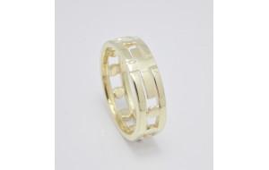 Dámsky prsteň žlté zlato Ruženec II.