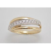 Dámsky prsteň žlté a biele zlato Gaia JM208