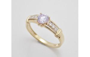 Dámsky prsteň žlté zlato Agatha