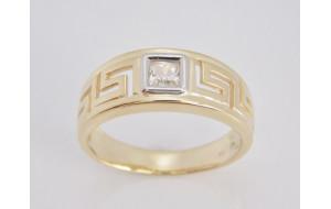 Dámsky prsteň žlté a biele zlato Antik JM60