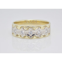 Dámsky prsteň žlté a biele zlato Danae JM12