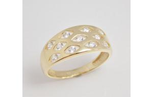 Dámsky prsteň žlté zlato Cloud JM364