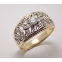 Dámsky prsteň žlté a biele zlato Larissa JM345