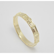 Dámsky prsteň žlté zlato Ruženec III.