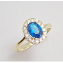 Dámsky prsteň žlté zlato Amalia - blue