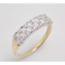 Dámsky prsteň žlté a biele zlato Patty JM368