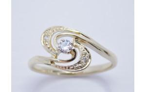 Dámsky prsteň žlté zlato Rachel