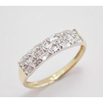 Dámsky prsteň žlté a biele zlato Amy JM370