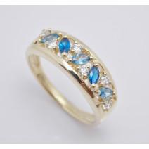 Dámsky prsteň žlté zlato Ideal JM349-blue