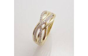 Dámsky prsteň žlté zlato Teresia JM384